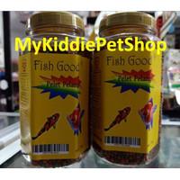 Pelet pakan ikan kura koi koki gupy cupang pelangi mix merah hijau 2mm