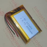 RC 103450 2000mAh LiPo 3.7v Baterai Kotak Prismatic Protected PCM MOS1