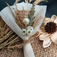 Buket Mini Dried Flower Untuk hiasan mahar / hampers / kado