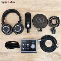 AUDIENT ID4 Studio Bundle Paket Recording Premium lengkap