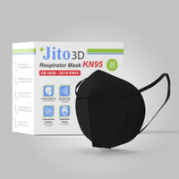JITO Masker KN95 4 Ply Earloop Hitam - Box isi 20 pcs