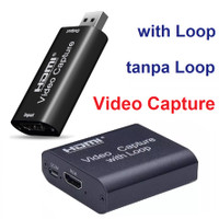 Video Capture HDMI USB Card Streaming Untuk PS4 Game Youtube Recording