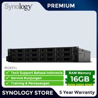 SYNOLOGY RS2421+ NAS Storage 12-Bay Garansi Premium 5 Tahun