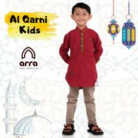 Baju Koko Anak Laki Laki Remaja Tanggung Kurta Pakistan Cowok Muslim - Maroon, S