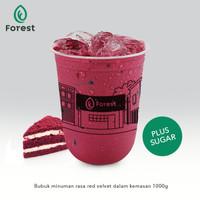 Bubuk Minuman RED VELVET Powder 1000g Plus Gula-FOREST Bubble Drink TC