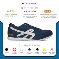 SPOTEC Sepatu Sneaker Spitter Biru Tua - Putih
