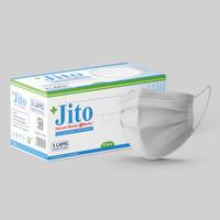 JITO Masker Medis 3 Ply Earloop Putih - Box isi 50 pcs
