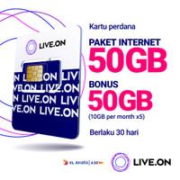 Kartu Perdana Live.On XL Power Full 50GB + 50GB Bonus