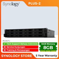 SYNOLOGY RS2421+ NAS Storage 12-Bay Garansi Plus-2 5 Tahun