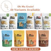 Oh Ma Grain Popped Rice Crackers - Snack Beras Sehat Diet Organik