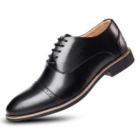 Sepatu Pantofel Gaya Formal Model Ujung Lancip untuk Pria Dengan kotak
