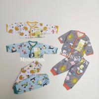 Baju Bayi Baru Lahir Setelan Panjang Velvet Junior (0-3 bulan )