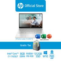 HP Pavilion14-dv0067TX/14/Intel i7-1165G7/8GB/Nvidia MX450/512GB SSD