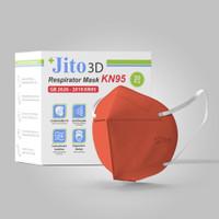 JITO Masker KN95 4 Ply Earloop Orange - Box isi 20 pcs
