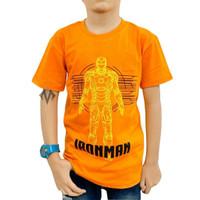 Baju kaos anak laki laki karakter Superhero IRON MAN ironman keren