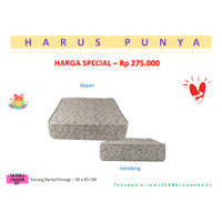 Bantal duduk lantai / Pouffe - Livien Mocca 60x50x15