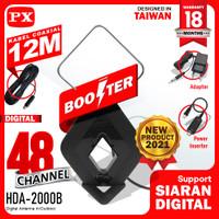 Antena TV Digital Analog DVB-T2 4k High Gain 25-Db PX HDA-2000B