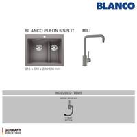 Bak Cuci Piring Silgranit BLANCO Pleon 6 Split + MILI Silgranit