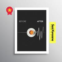 Poster Quotes Cafe Dinding Frame Bingkai Kayu Premium SK99B