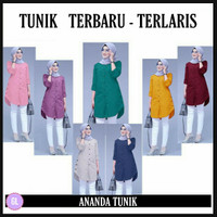 ANANDA tunic/baju atasan tunik/baju tunik terbaru/baju muslim wanita