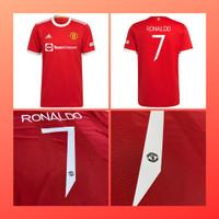 Kaos sepak bola pria baju jersey MU ronaldo baju bola dewasa cr7 UCL - S