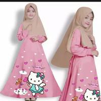 baju gamis anak/baju gamis anak gambar sablon/tidak termasuk jilbab