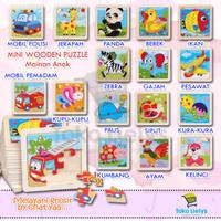 MINI WOODEN PUZZLE Mainan Anak Mainan Puzzle Anak Puzzel Kayu