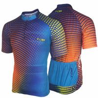 Baju sepeda lengan pendek cewek cowok gowes roadbike jersey dryfit