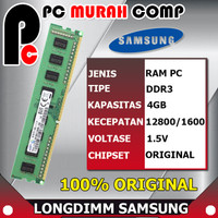 RAM PC 4gb - DDR3 - 2rx8 - PC3 - 12800U - MERK SAMSUNG