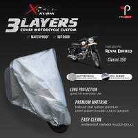 Cover Motor Royal Enfield Classic 350 3 Layers Waterproof Outdoor