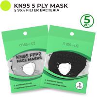 Miss U2 Masker KN95 KEMENKES RI 5ply Isi 5pcs