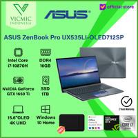 ZenBook Pro UX535LI-OLED712SP I7-10870H GTX1650TI 16G 1T PCIE OLED 4K