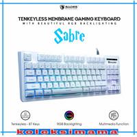 Sades Sabre TKL RGB Gaming Keyboard - Putih