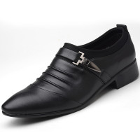 Sepatu Pantofel Bahan Kulit Ukuran Besar untuk Pria/Bisnis Dengan 1618