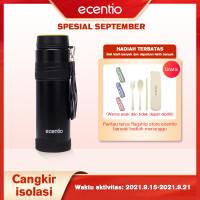 ecentio 1L mug merak/botol air berkapasitas besar/gelas air portabel