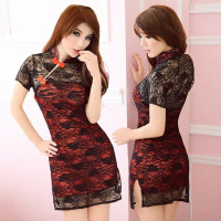 Sexy Lingerie Cheongsam Cosplay Baju Hot Wanita China Sexy Dress