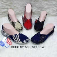 Sepatu OGGO flat rajut/anyaman tipe 510 women