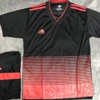 Setelan Futsal Mu Home 2018 Hitam / stelan jersey / baju tim sepak bol