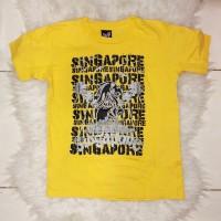 SPAINZATIME Singapore Merlion High Density Print Tee Shirt (Yellow)