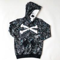 Jaket hoodie BAPE MASTERMIND GALAXY SHARK streetwear a bathing ape