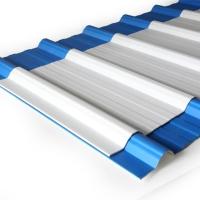 Invideck Atap UPVC 3 Lapis 3mm Warna Putih / Biru Gelombang Spandek