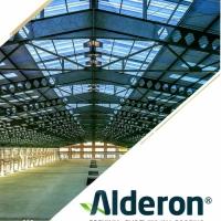 Alderon Atap UPVC Twinwall 830 10mm Semi Transparent Putih / Biru