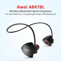 AWEI Bluetooth Earphone Headset - A847BL - Black