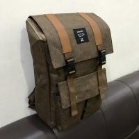 Tas ransel backpack pria wanita original tas distro tas kuliah - Cokelat