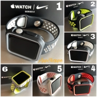 Apple Watch iWatch STRAP & SILICONE CASE BUMPER 42MM NIKE SERIES