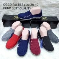 Oggo 512 sepatu IMPORT anyaman rajut wanita ORI