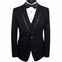 Jas Pria Slim fit formal blazer hitam black import! Super good quality