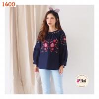 Baju boho murah / blouse bohemian / atasan wanita panjang bordir bunga