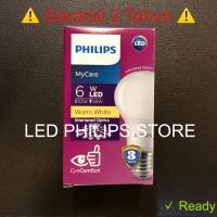 Lampu Bohlam LED Philips 7 Watt Kuning/Warm White (7W 7 W 7Watt)