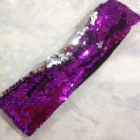 Bando sequin ungu berubah warna